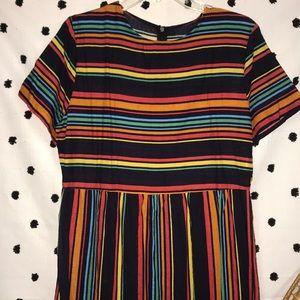 Vintage Striped Maxi Dress